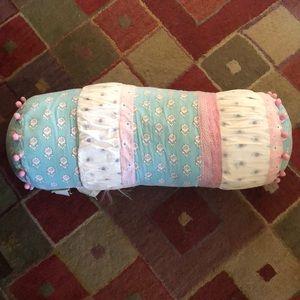 Pottery barn kids Brooklyn bolster pillow